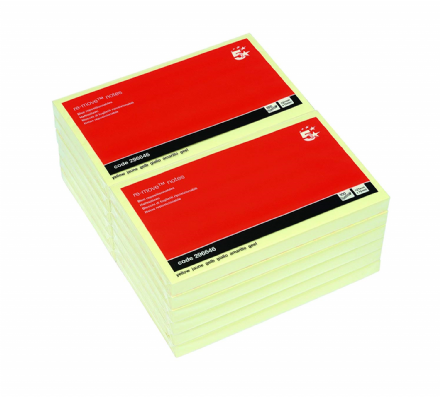 5 Star Re-move Notes / 76x127mm / Yellow / Pack of 12 x 100 Notes